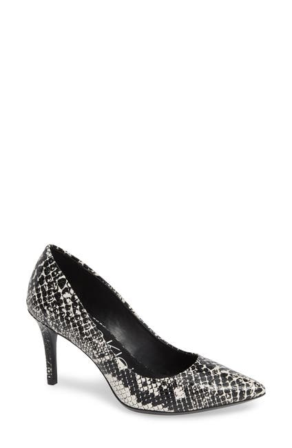 Image of Calvin Klein Gayle Shiny Snake Embossed Leather Pump