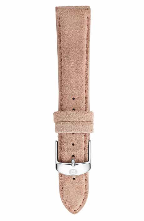 MICHELE 16mm Nubuck Leather Watch Strap