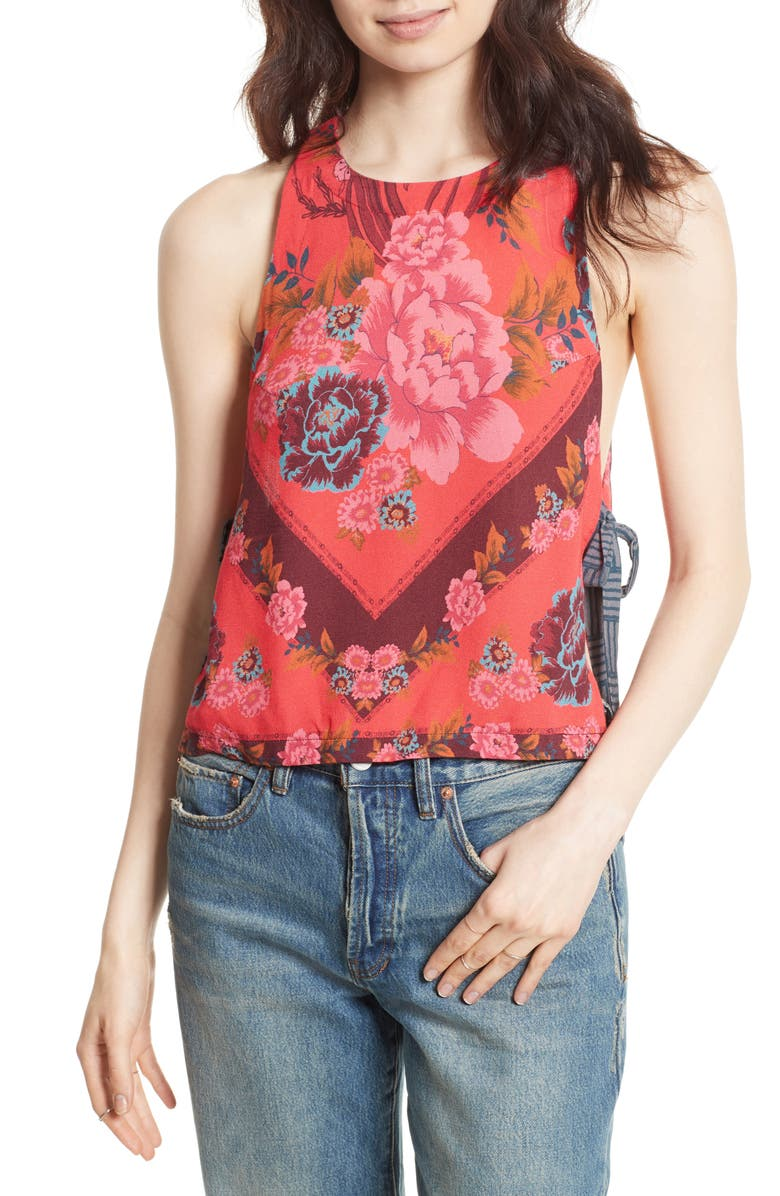 FREE PEOPLE This Sweet Love Floral Print Tank, Main, color, 600