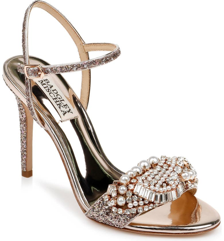 BADGLEY MISCHKA COLLECTION Badgley Mischka Odelia Crystal Embellished Sandal, Main, color, 695