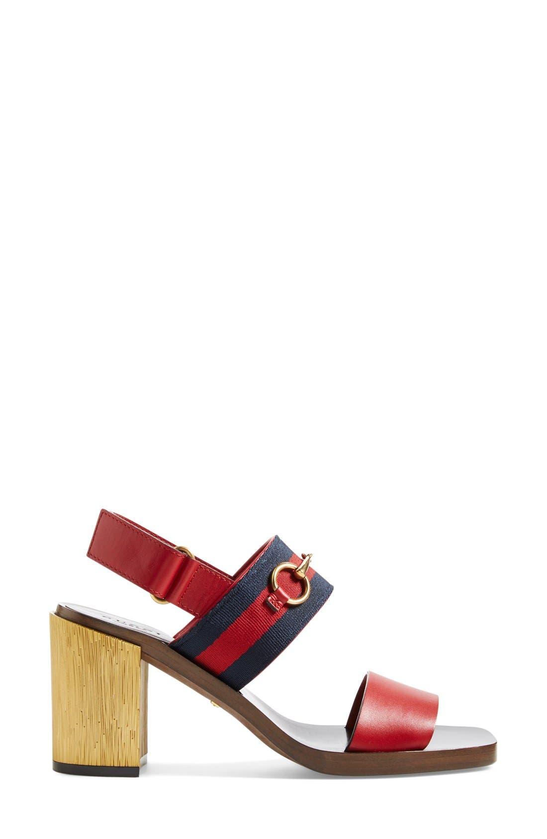 ,                             'Querelle' Horsebit Slingback Sandal,                             Alternate thumbnail 7, color,                             600
