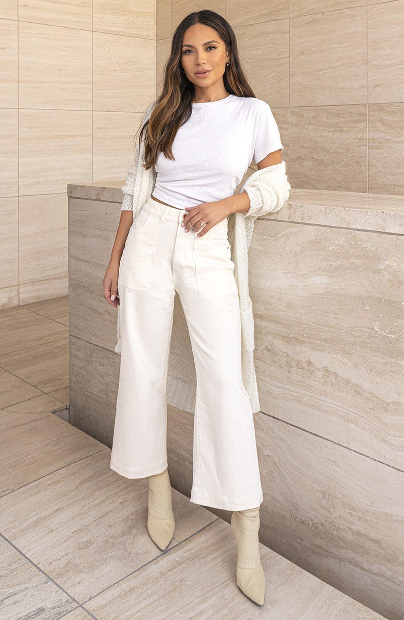DL1961 x Marianna Hewitt Hepburn High Waist Wide Leg Jeans (Sutter)