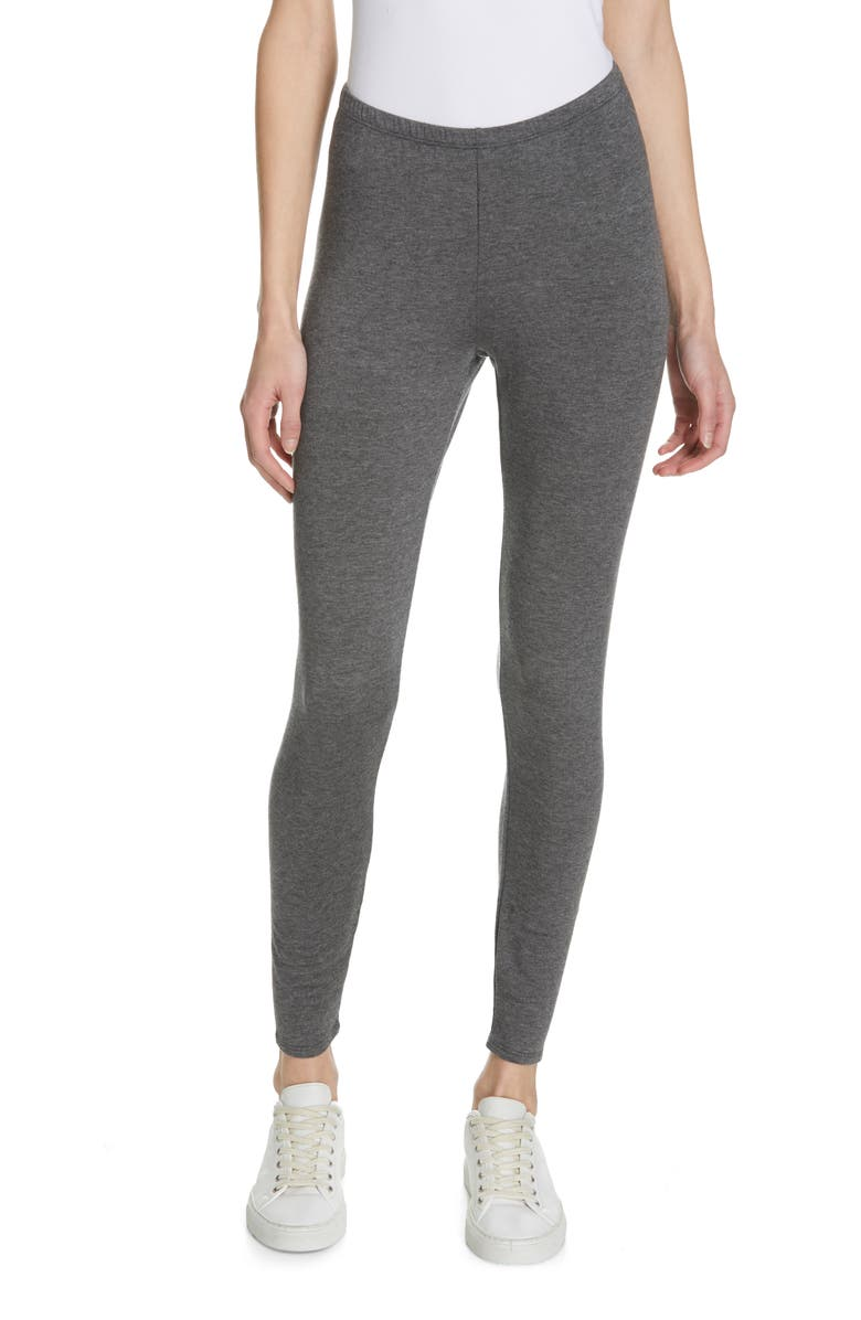 EILEEN FISHER Ankle Leggings, Main, color, ASH
