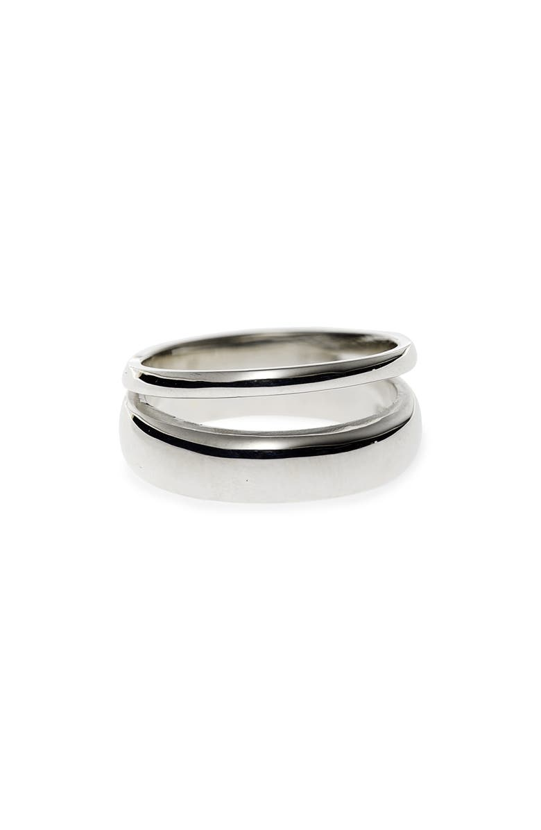 SOPHIE BUHAI Double Band Ring, Main, color, STERLING SILVER
