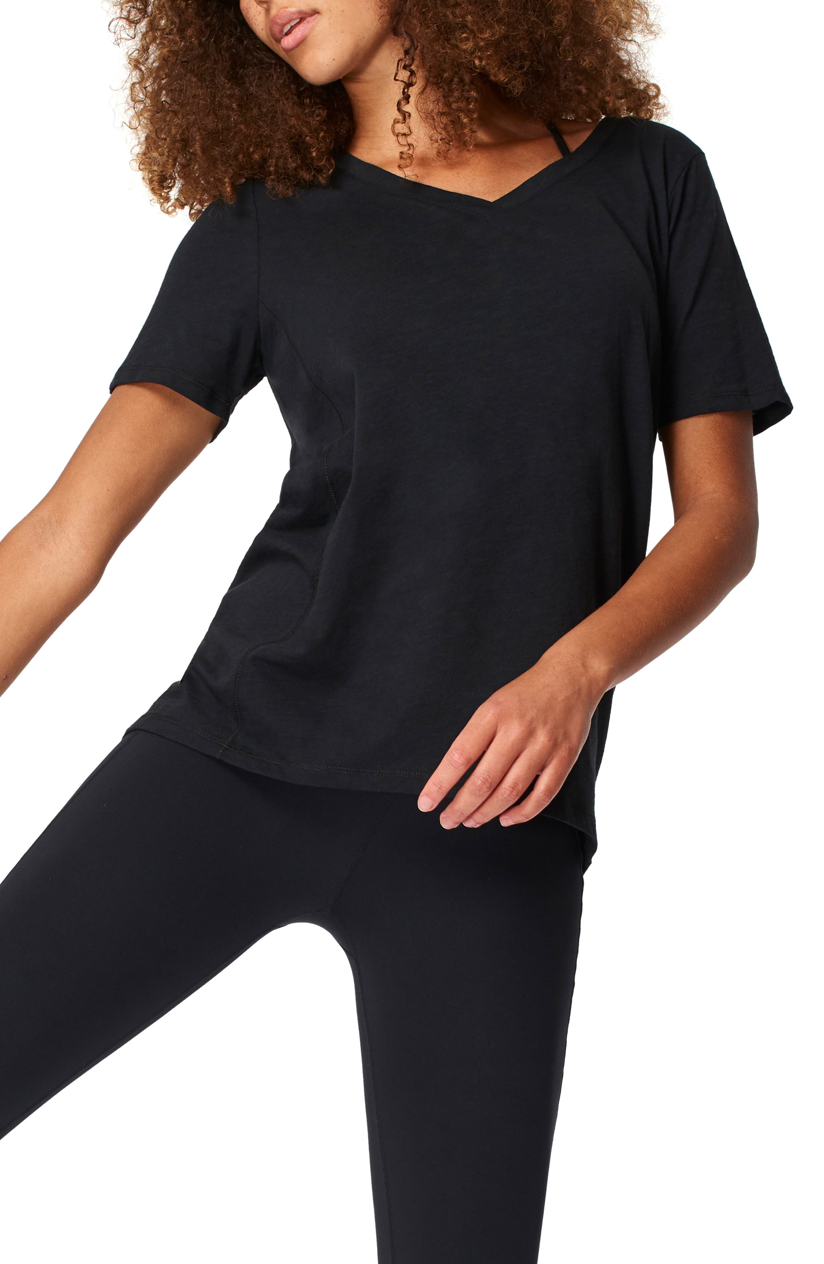 This essential cotton T-shirt is perfect for running errands and staying cool throughout your next cycling class. Style Name: Sweaty Betty Refresh T-Shirt. Style Number: 6084158. Available in stores.