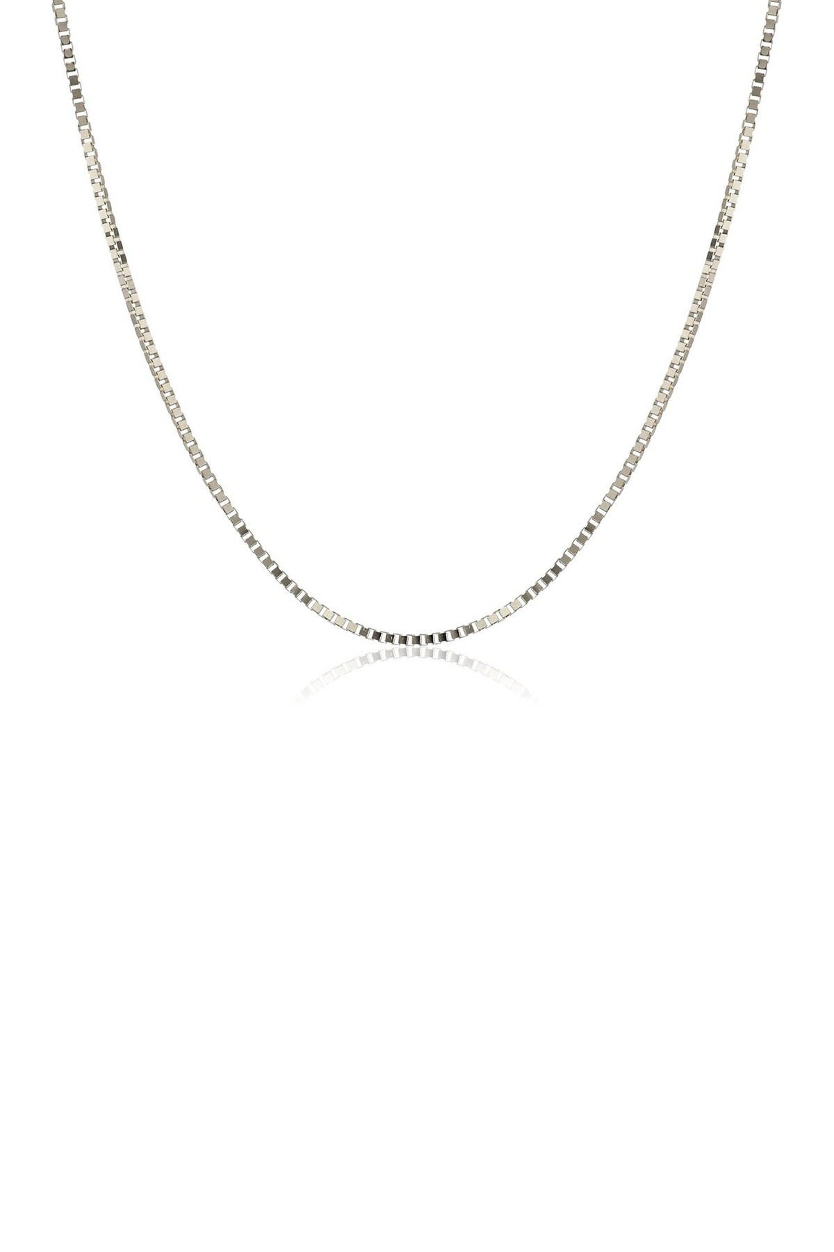 """Image of Best Silver Inc. Sterling Silver Box Chain 20"""""""