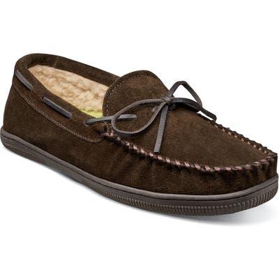 Florsheim Cozzy Moc Toe Slipper, Brown