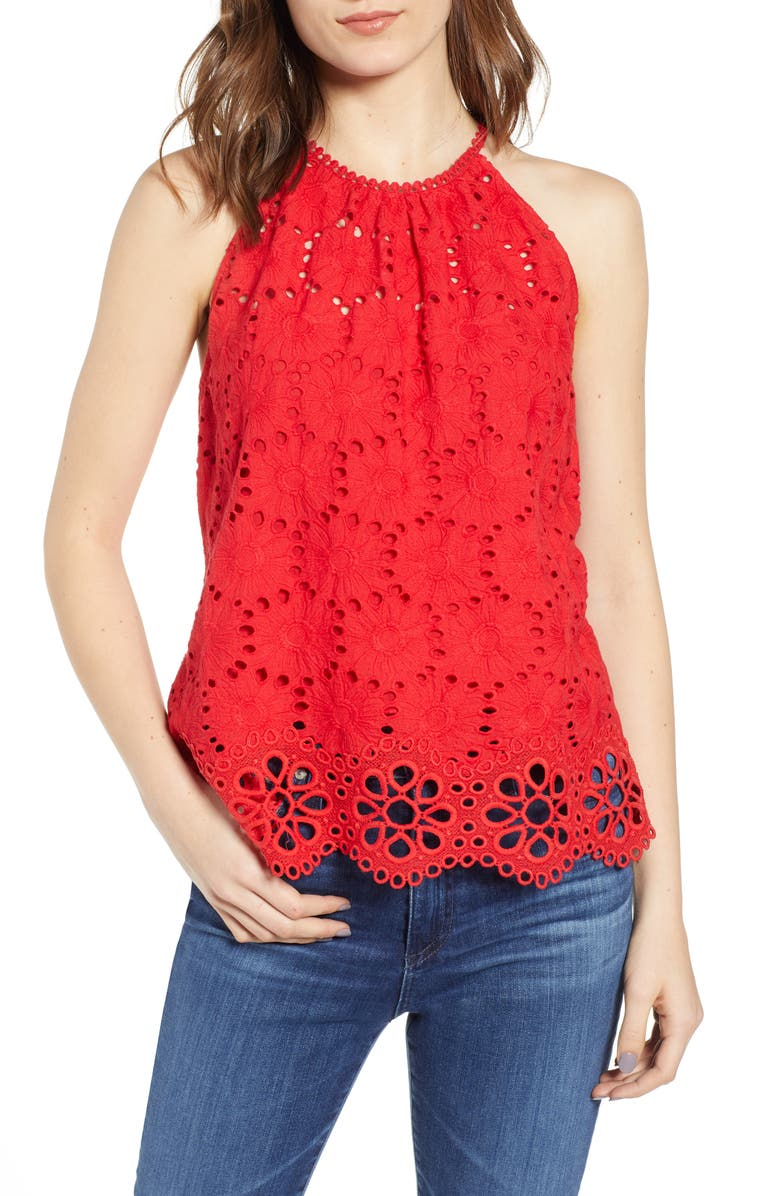 BAILEY 44 Tranquille Eyelet Top, Main, color, 600