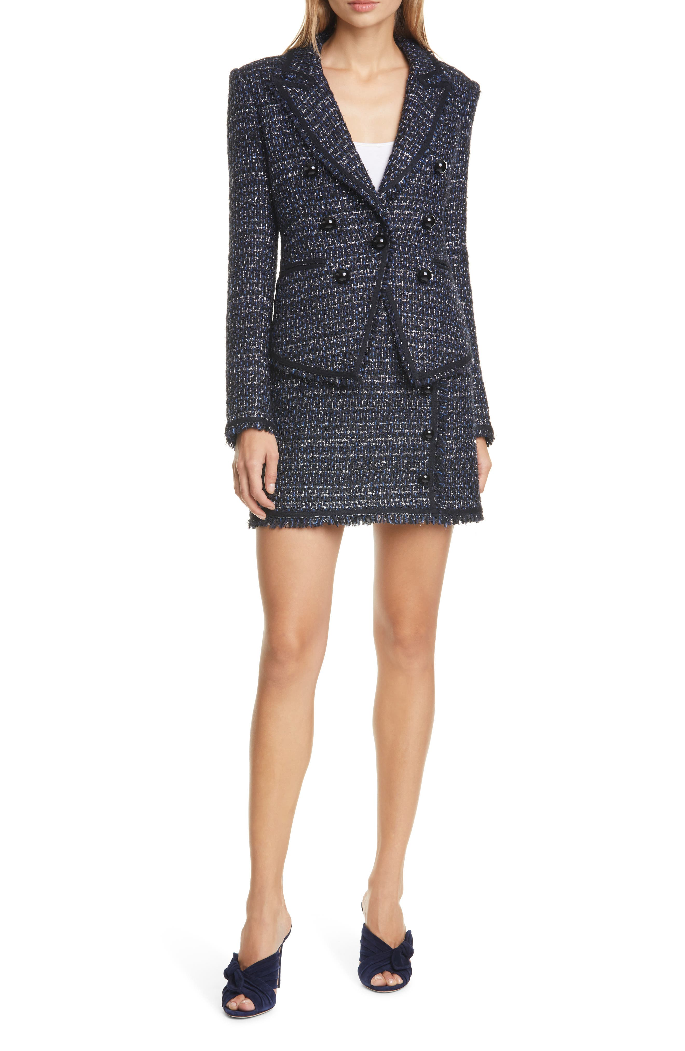 Veronica Beard Coats Cooke Tweed Dickey Jacket