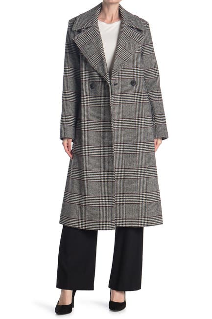 Image of Nine West Double Breasted Long Wool Coat