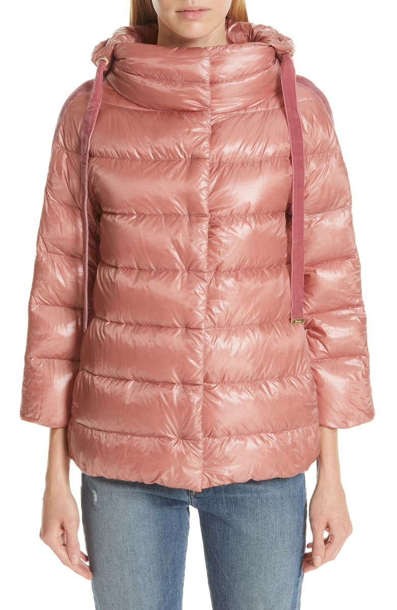 HERNO Quilted Down Puffer Coat, Main, color, PINK