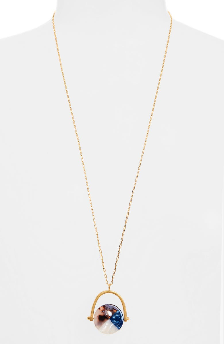 MADEWELL Colorblock Acetate Spinning Disc Necklace, Main, color, ACETATE MIX