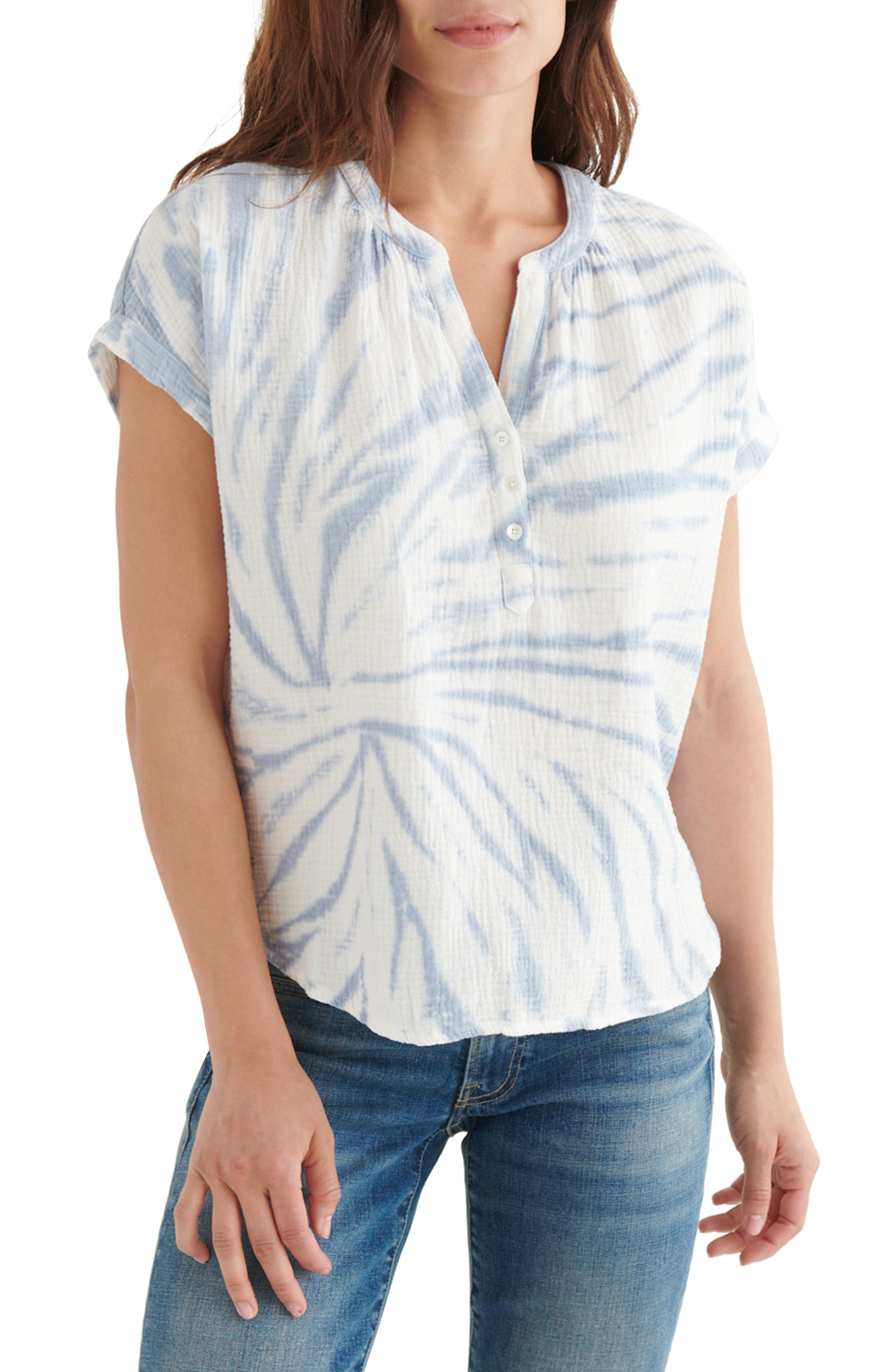 Crinkle Cotton Top