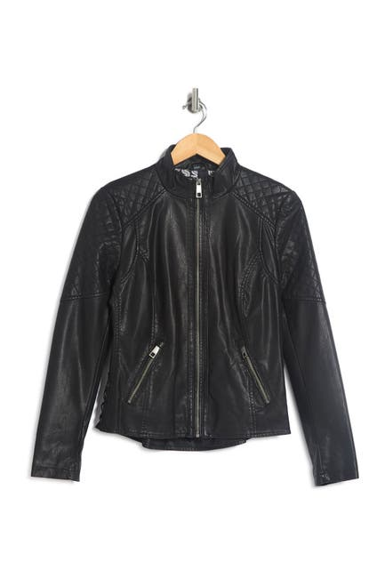 Image of GUESS Faux Leather Jacket