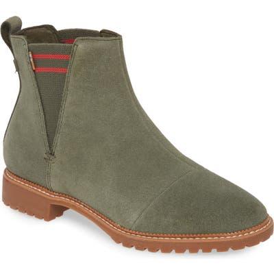 Toms Cleo Water Resistant Chelsea Boot, Green