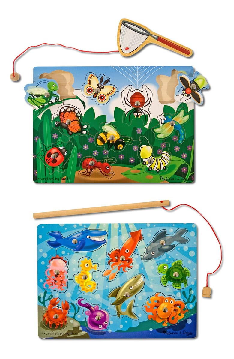 MELISSA & DOUG Fish/Bug Catch Magnet Games, Main, color, MULTI