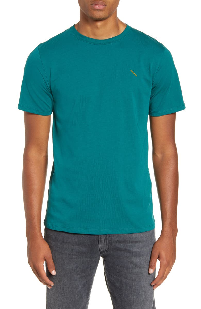 SATURDAYS NYC Embroidered Slash T-Shirt, Main, color, OCEAN GREEN
