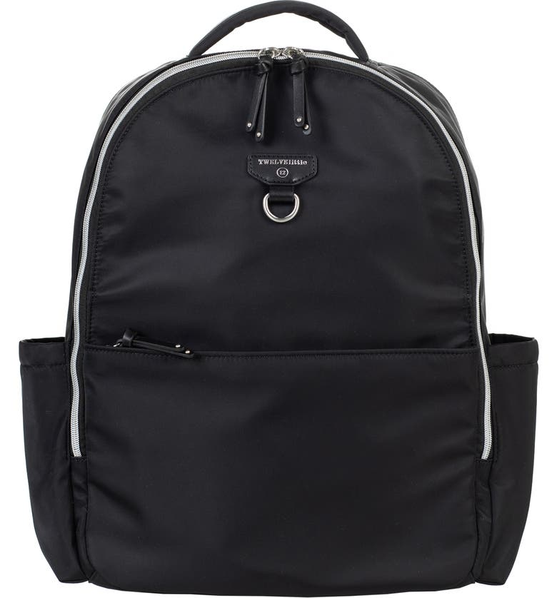 TWELVELITTLE On the Go Water Resistant Diaper Backpack, Main, color, BLACK