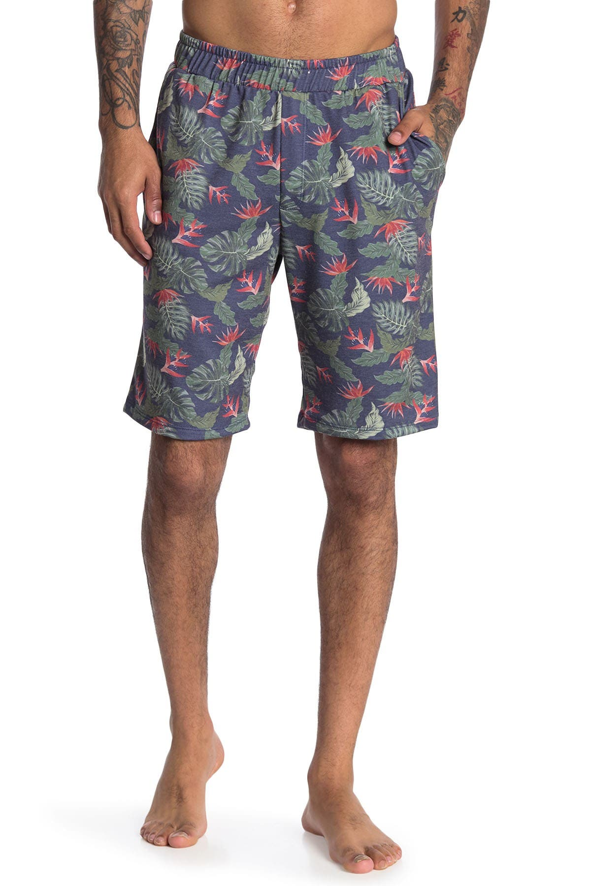 Image of COZY ROZY Baja Man Tropical Pull-On Shorts