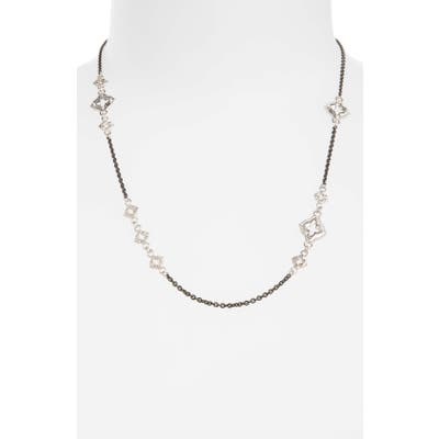 Armenta New World Chain Scroll Station Necklace