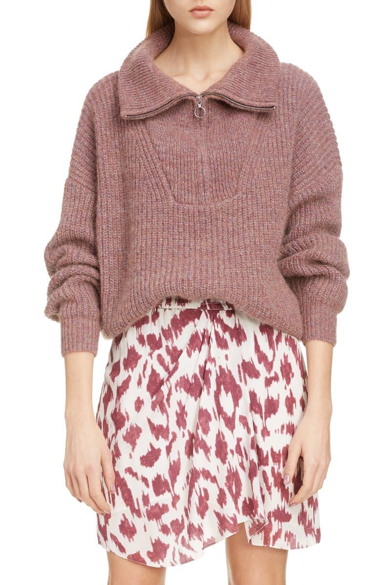 Isabel Marant étoile Myclan Quarter Zip Sweater Nordstrom