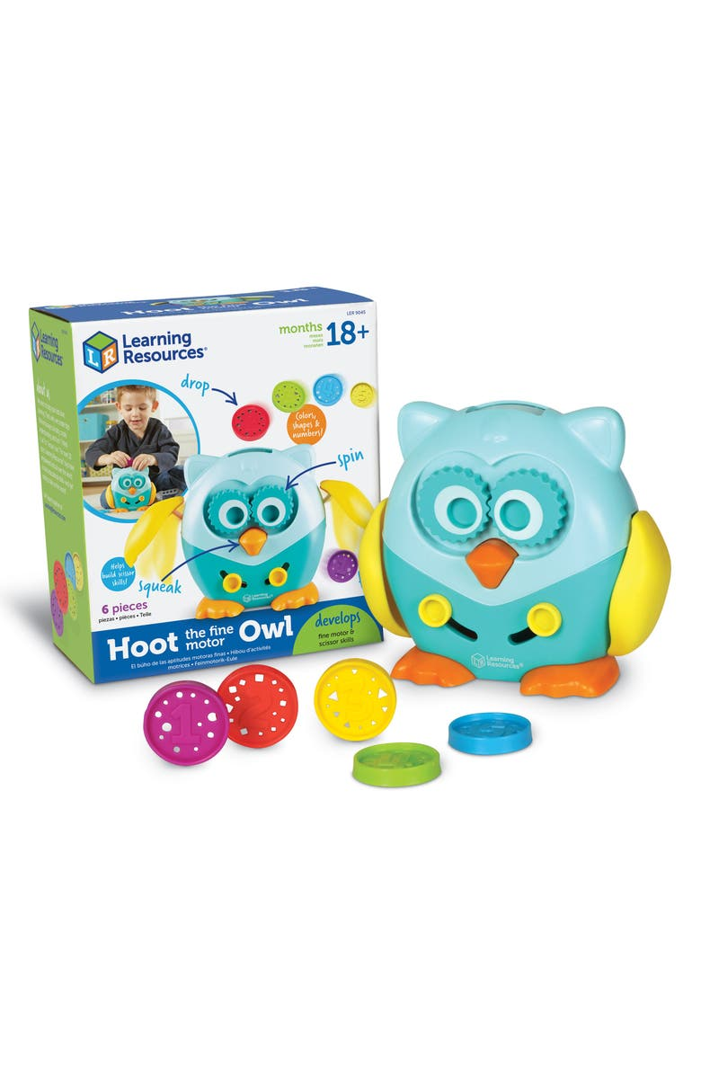 LEARNING RESOURCES Hoot the Fine Motor Owl Learning Toy, Main, color, 300