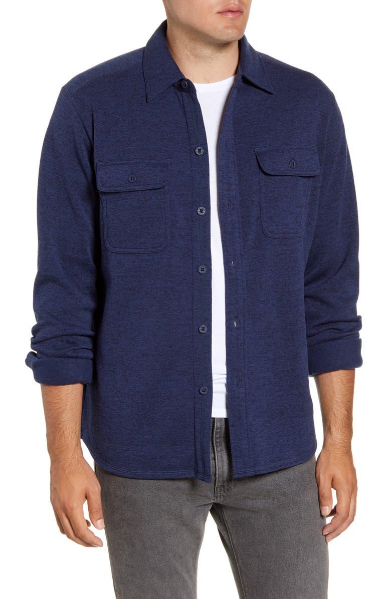 SOUTHERN TIDE Benjies Regular Fit Button-Up Shirt Jacket, Main, color, TRUE NAVY