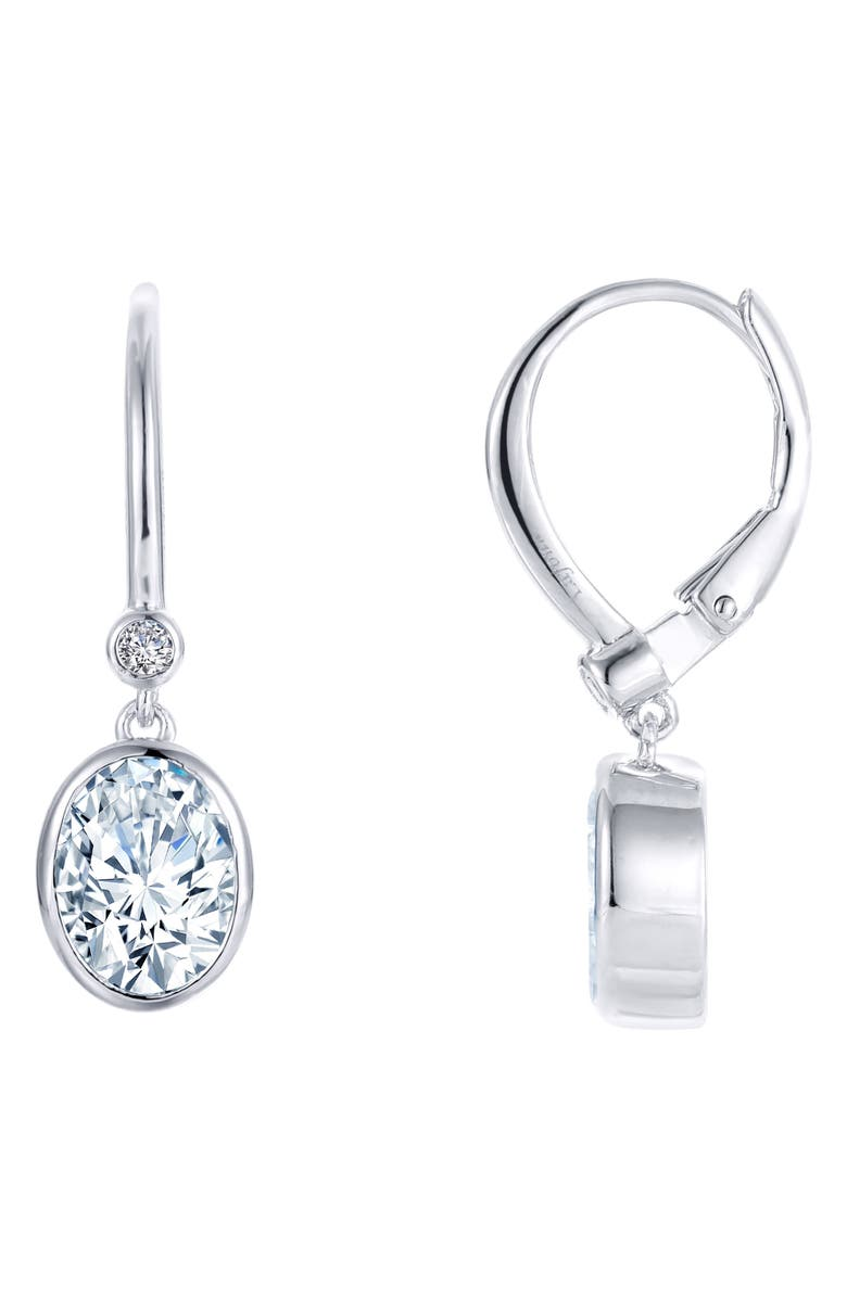 LAFONN Simulated Diamond Drop Earrings, Main, color, 040