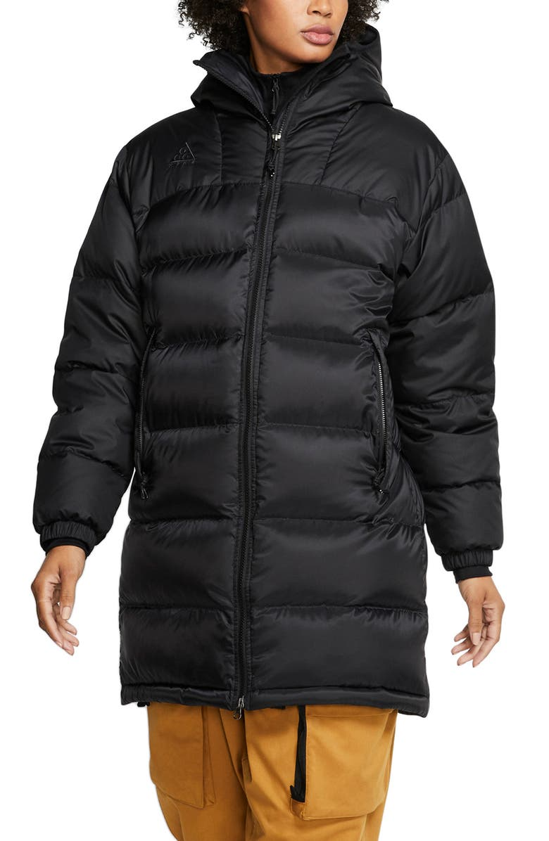 NIKE ACG Hooded Down Parka, Main, color, BLACK