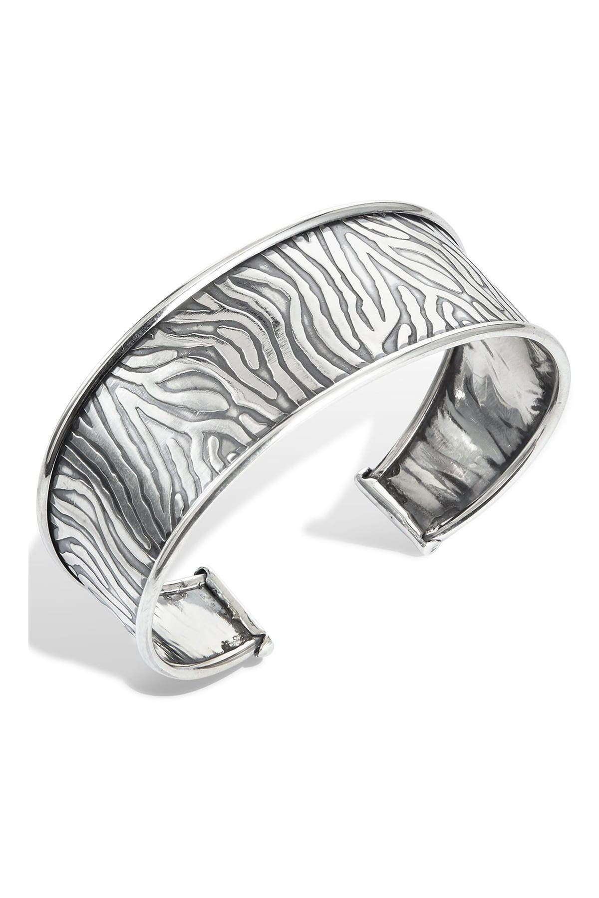 Image of Savvy Cie Sterling Silver Wide Cuff