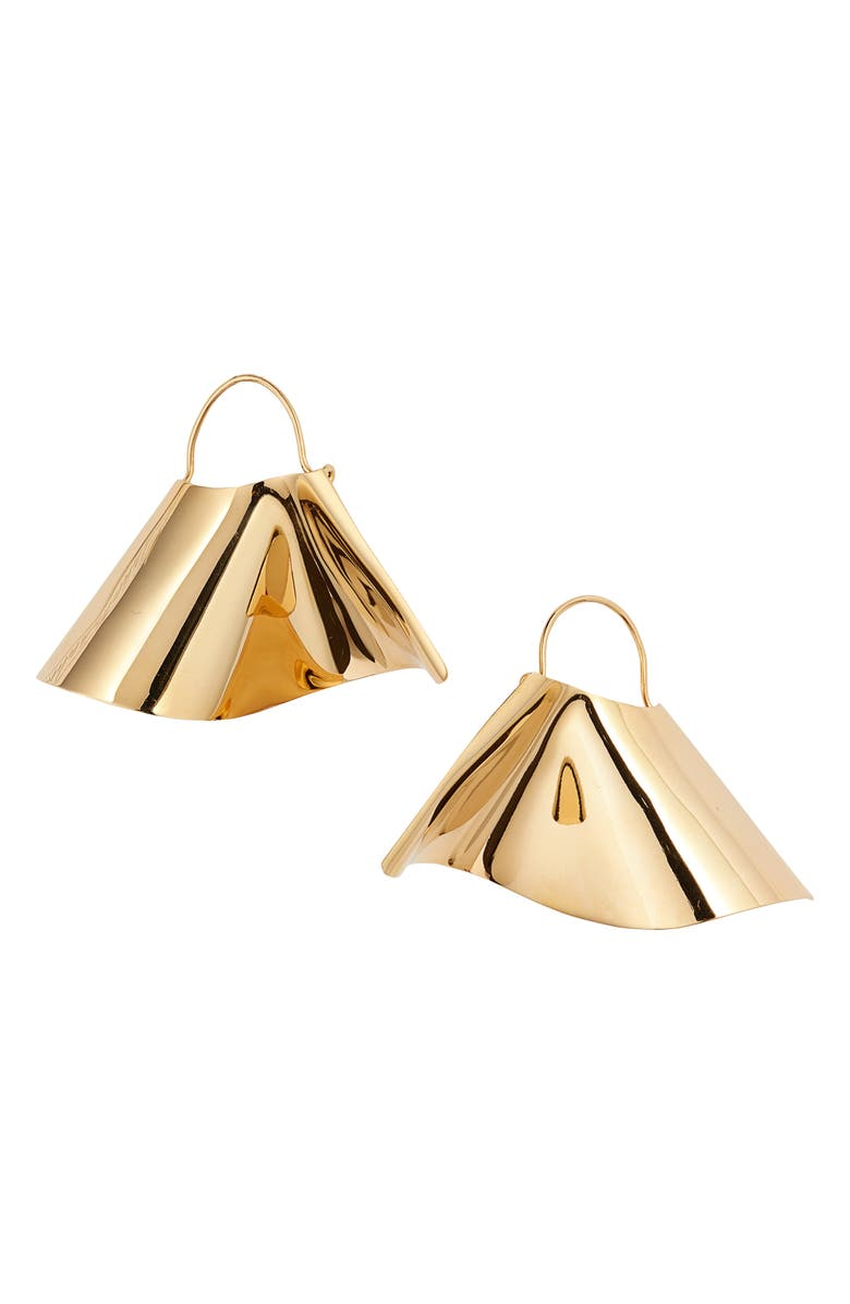 THE ACCESSORY JUNKIE Eluthera Drop Earrings, Main, color, GOLD
