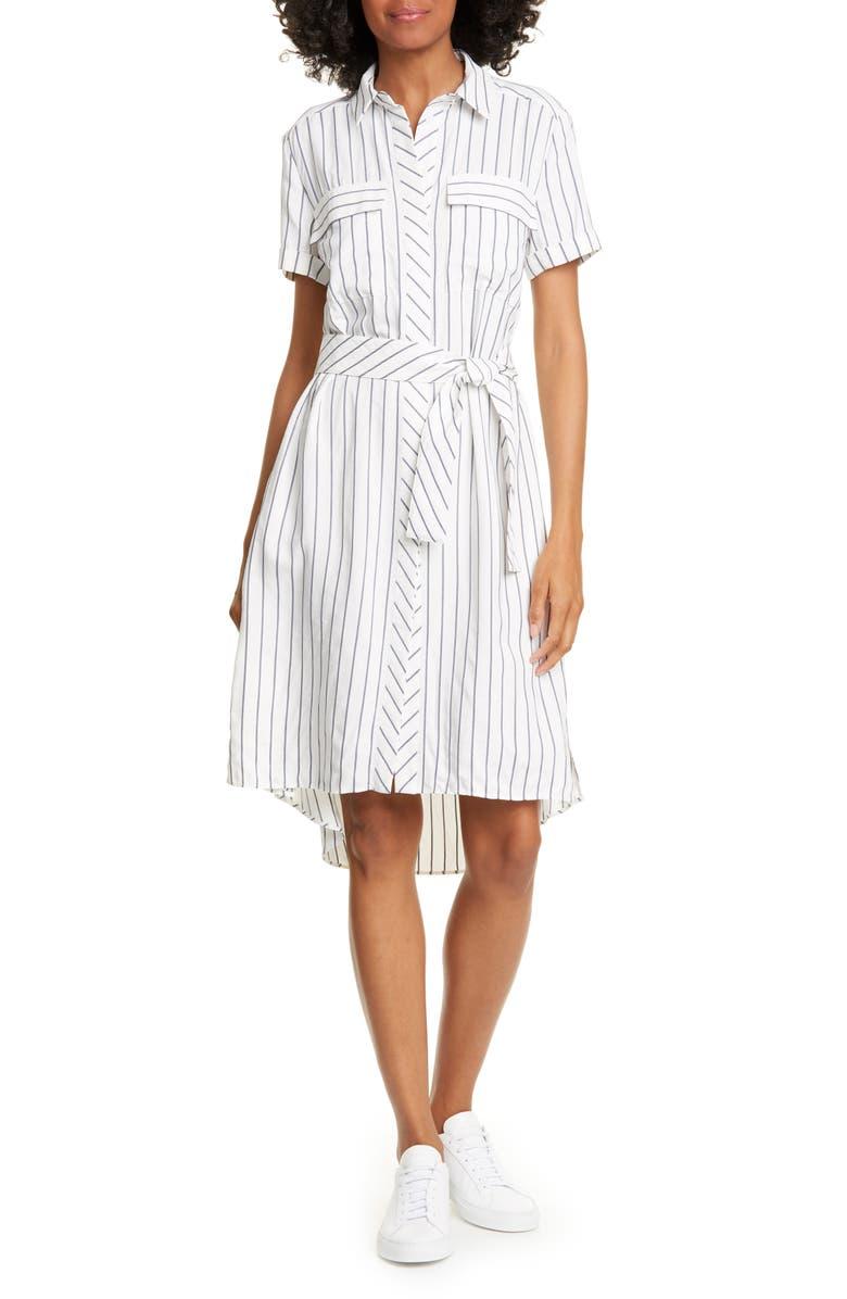 KAREN MILLEN Soft Stripe Shirtdress, Main, color, 110
