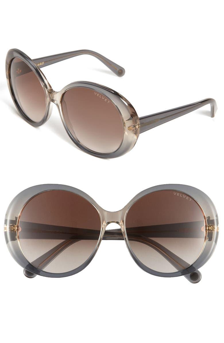 VELVET EYEWEAR 'Janis' Sunglasses, Main, color, 020