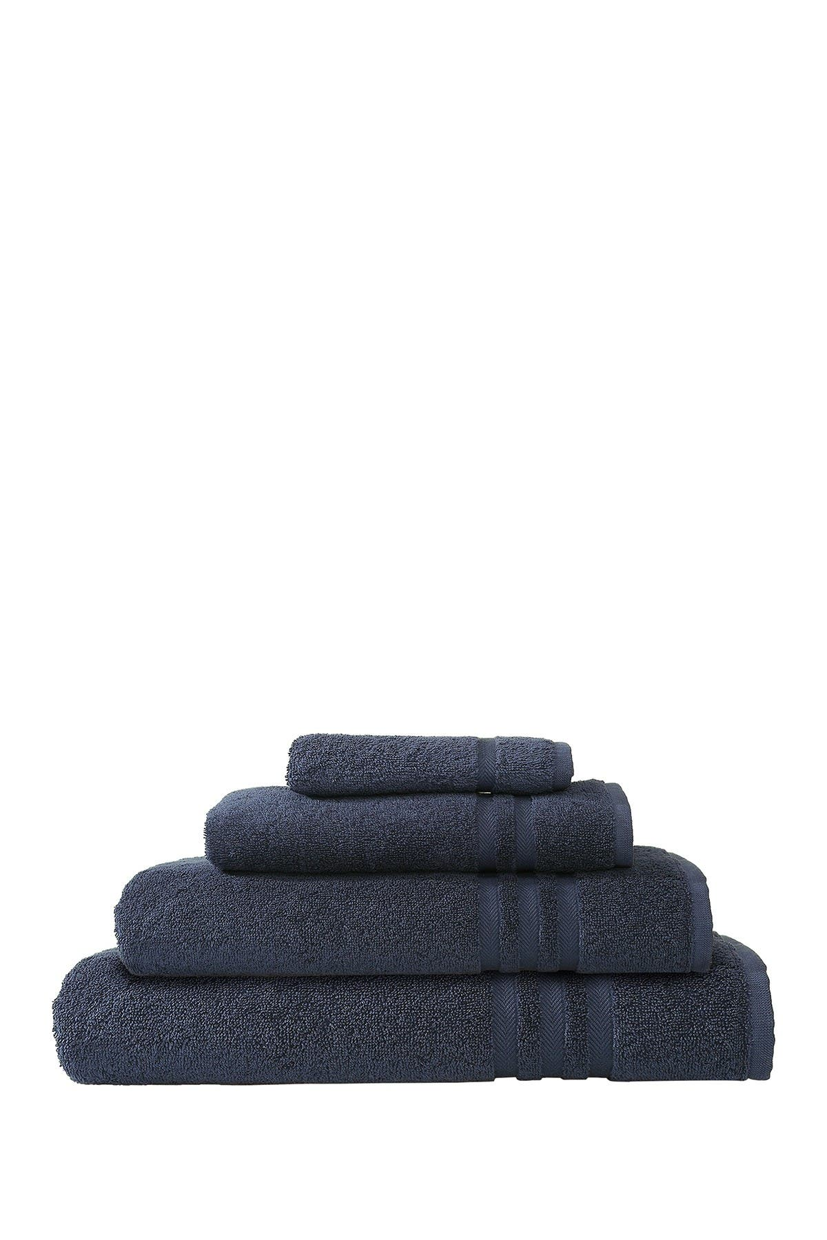 Image of LINUM HOME Denzi 4-Piece Towel Set - Twilight Blue