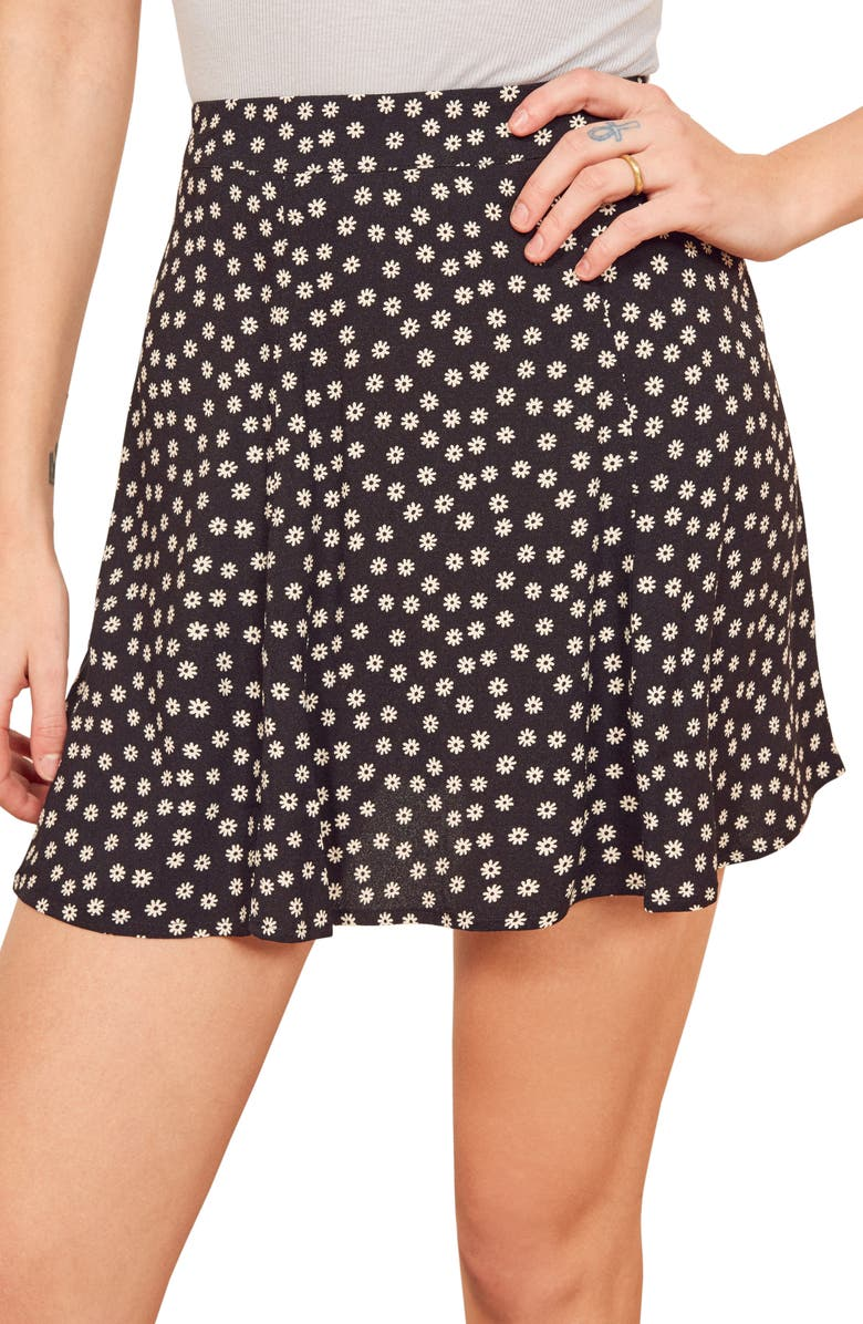 REFORMATION Flounce Skirt, Main, color, 001