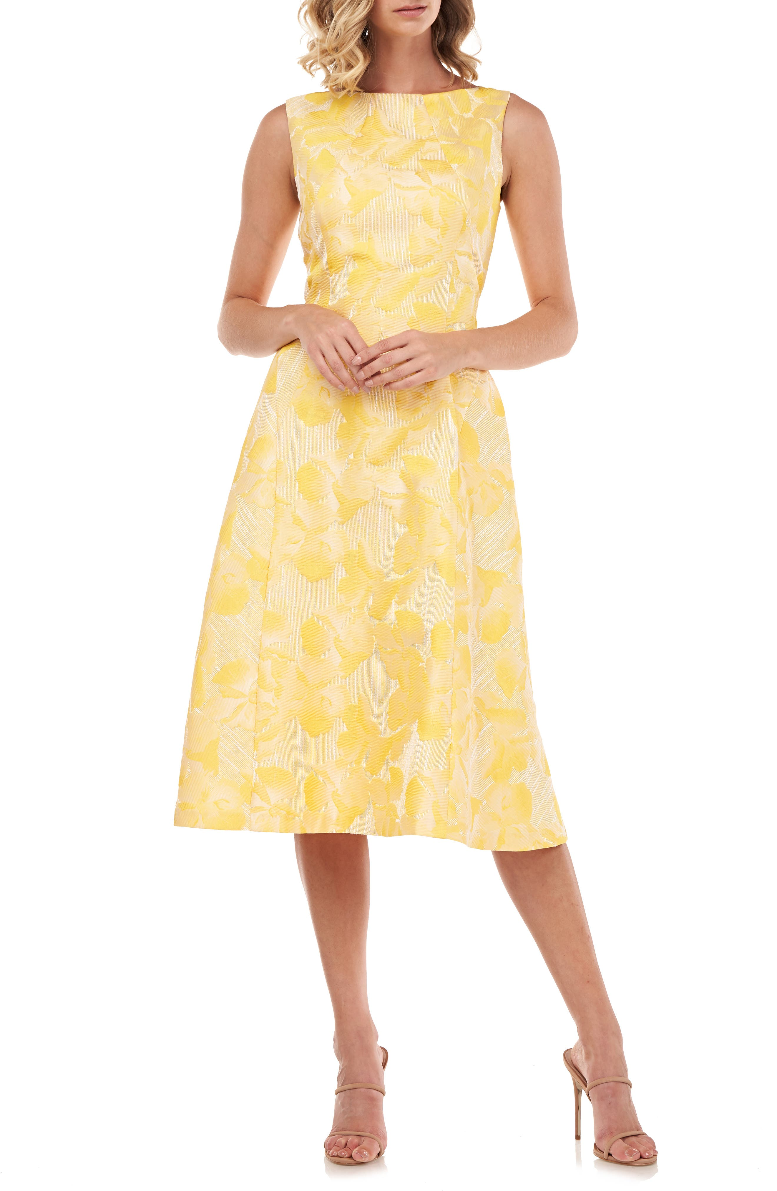 Keegan Sleeveless Fit & Flare Midi Dress