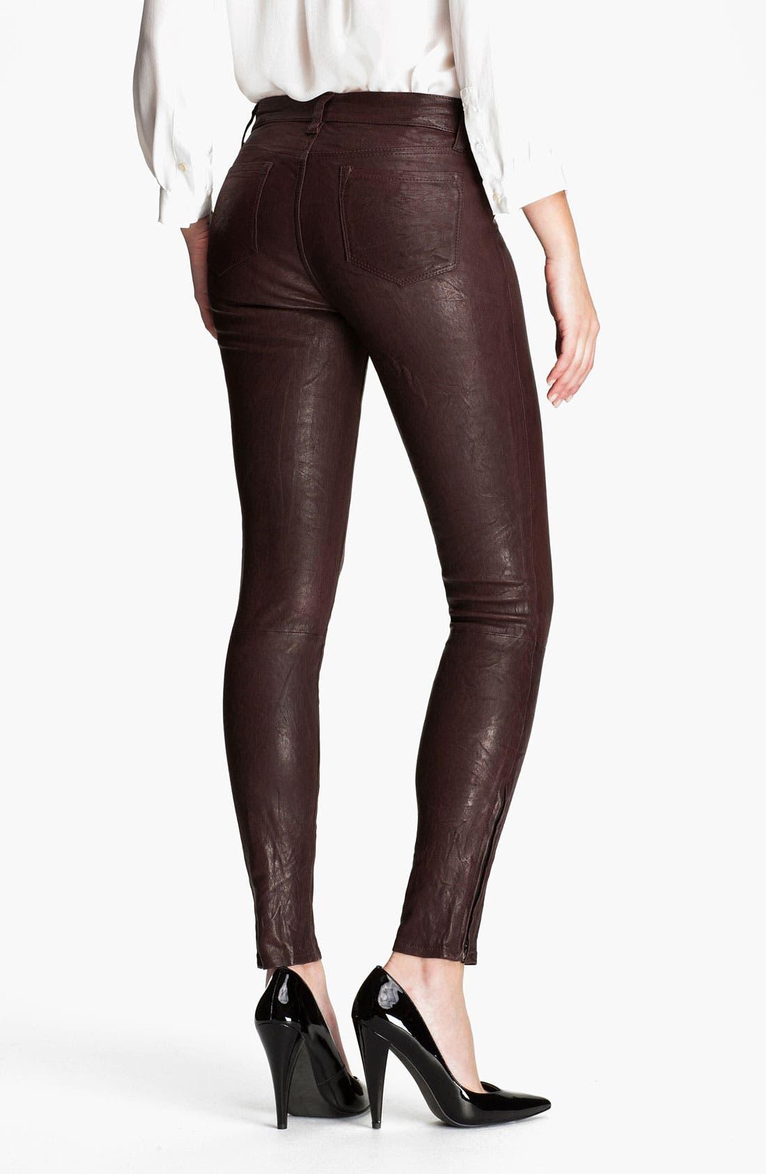 ,                             '8001' Lambskin Leather Pants,                             Alternate thumbnail 84, color,                             930