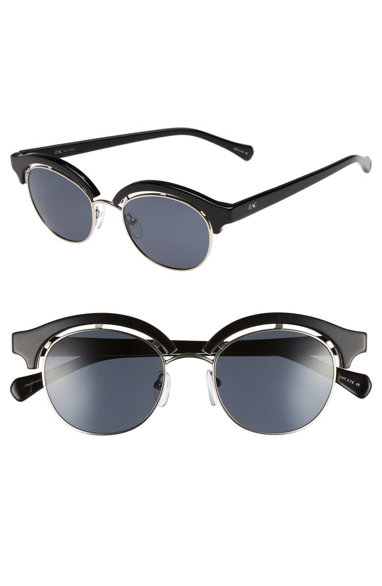 ZAC ZAC POSEN Pomona 48mm Polarized Sunglasses, Main, color, 001