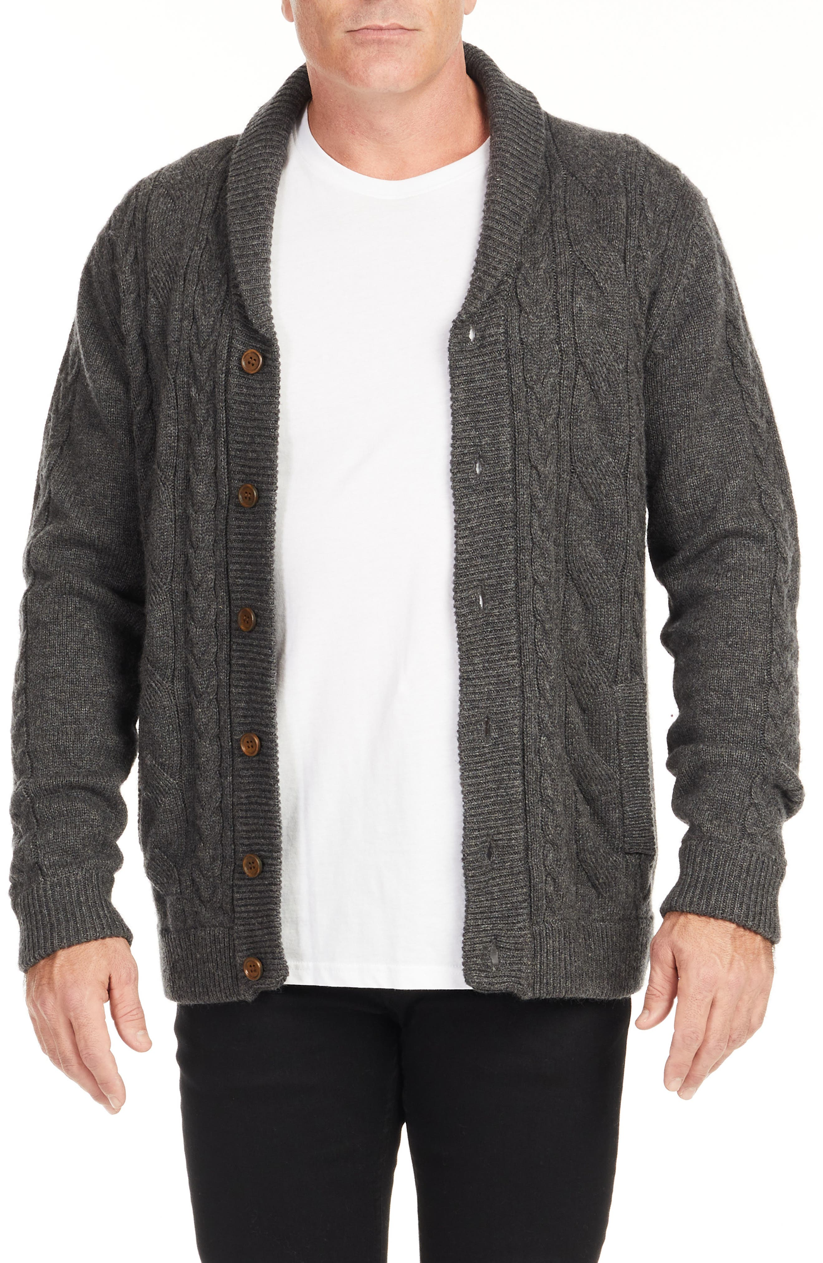 Whendon Cable Knit Cardigan