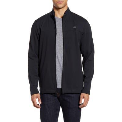 Travismathew Cash Out Fleece Jacket, Black