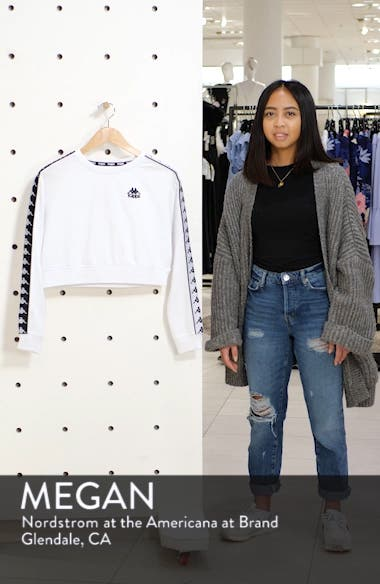Authentic Logo Tape Crop Sweatshirt, sales video thumbnail