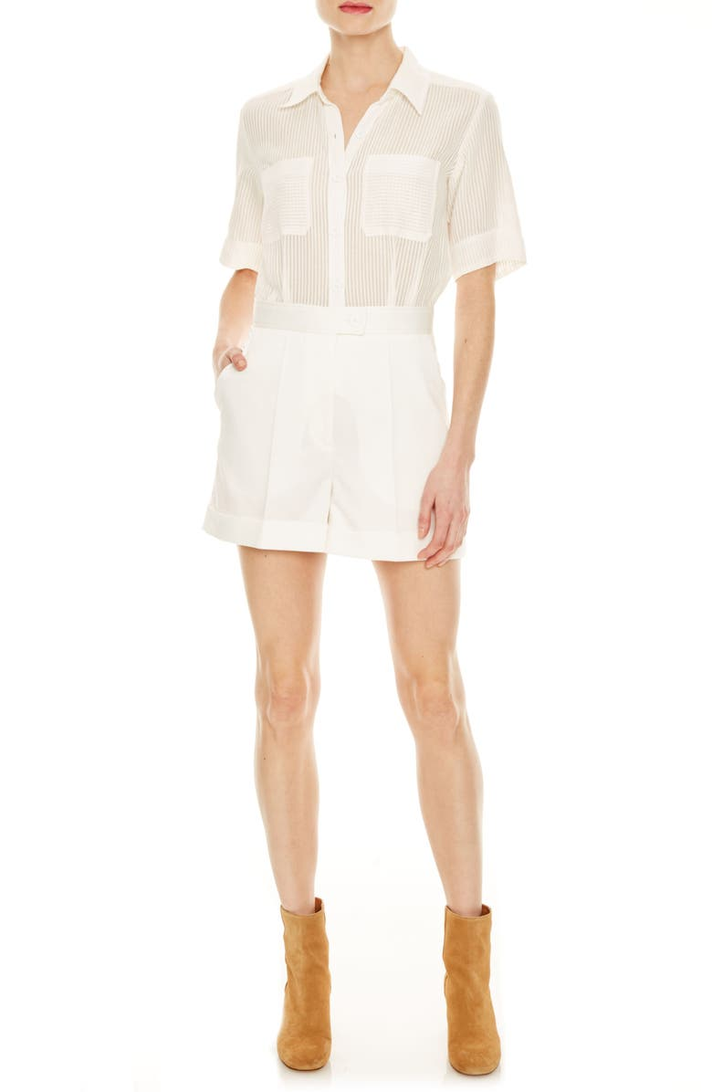 SANDRO Jolla Cotton Romper, Main, color, 101
