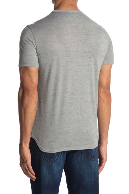 Image of John Varvatos Collection Lansing Snap Henley Shirt