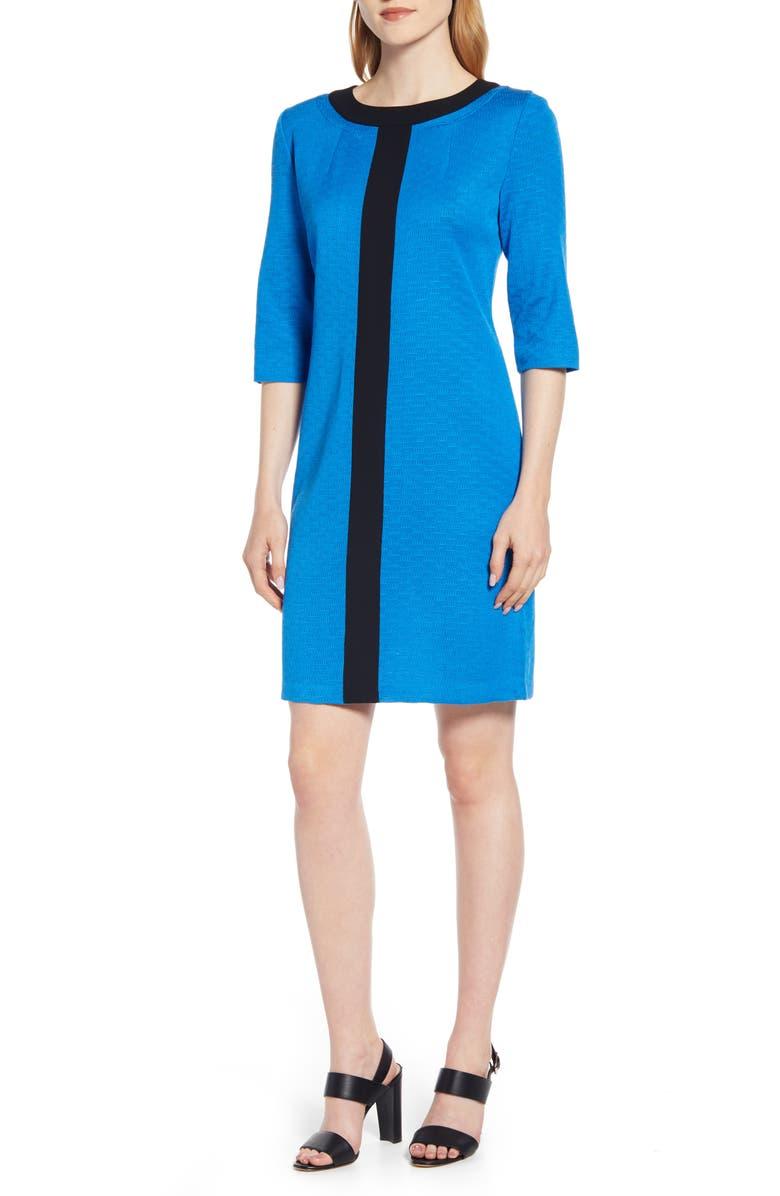 MING WANG Sweater Dress, Main, color, TWILIGHT/ BLACK