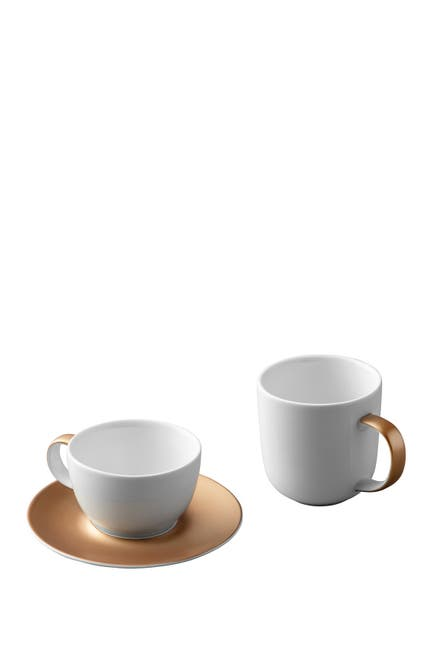 Image of BergHOFF Gem 3-Piece Coffee And Tea Set - White