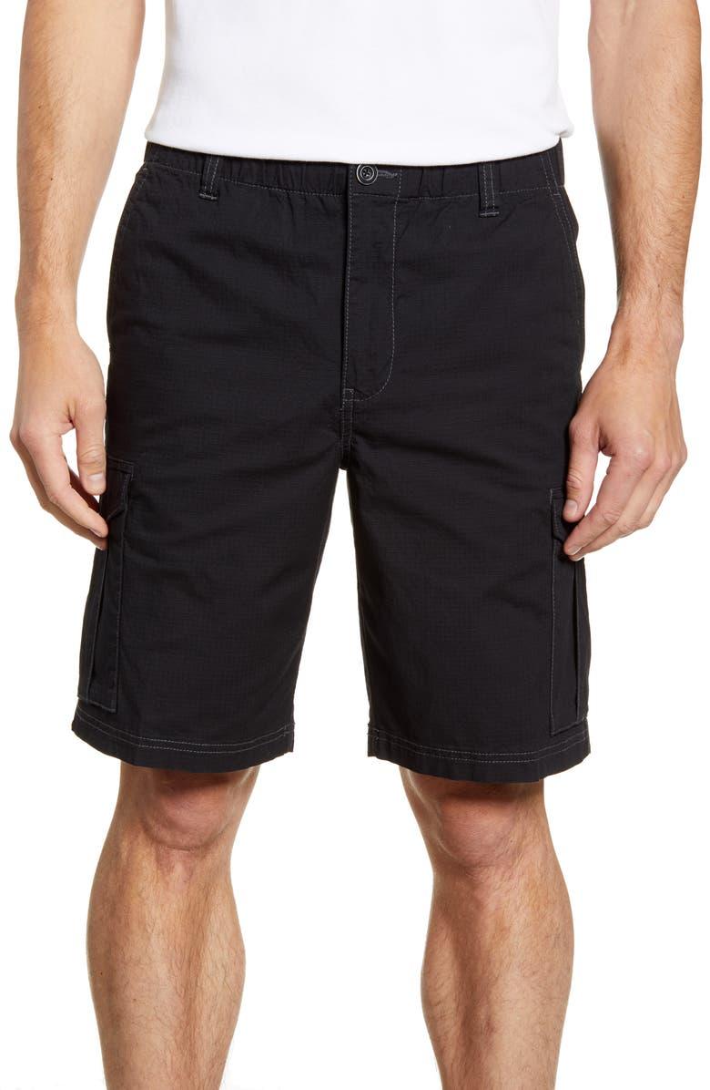 TOMMY BAHAMA Survivalist Ripstop Cargo Shorts, Main, color, BLACK