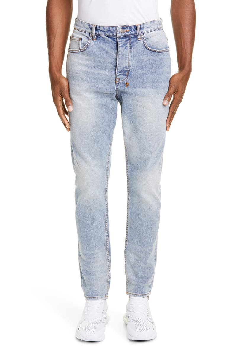 KSUBI Wolf Gang Mortal Relaxed Jeans, Main, color, DENIM