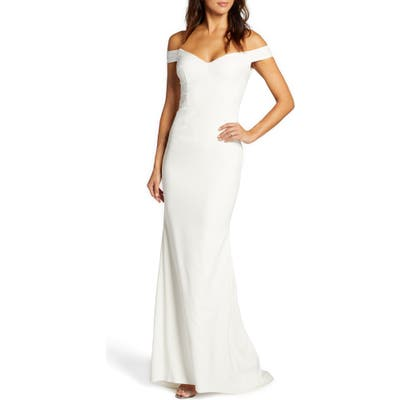 Noel And Jean By Katie May Alpha Off The Shoulder Dress, Ivory