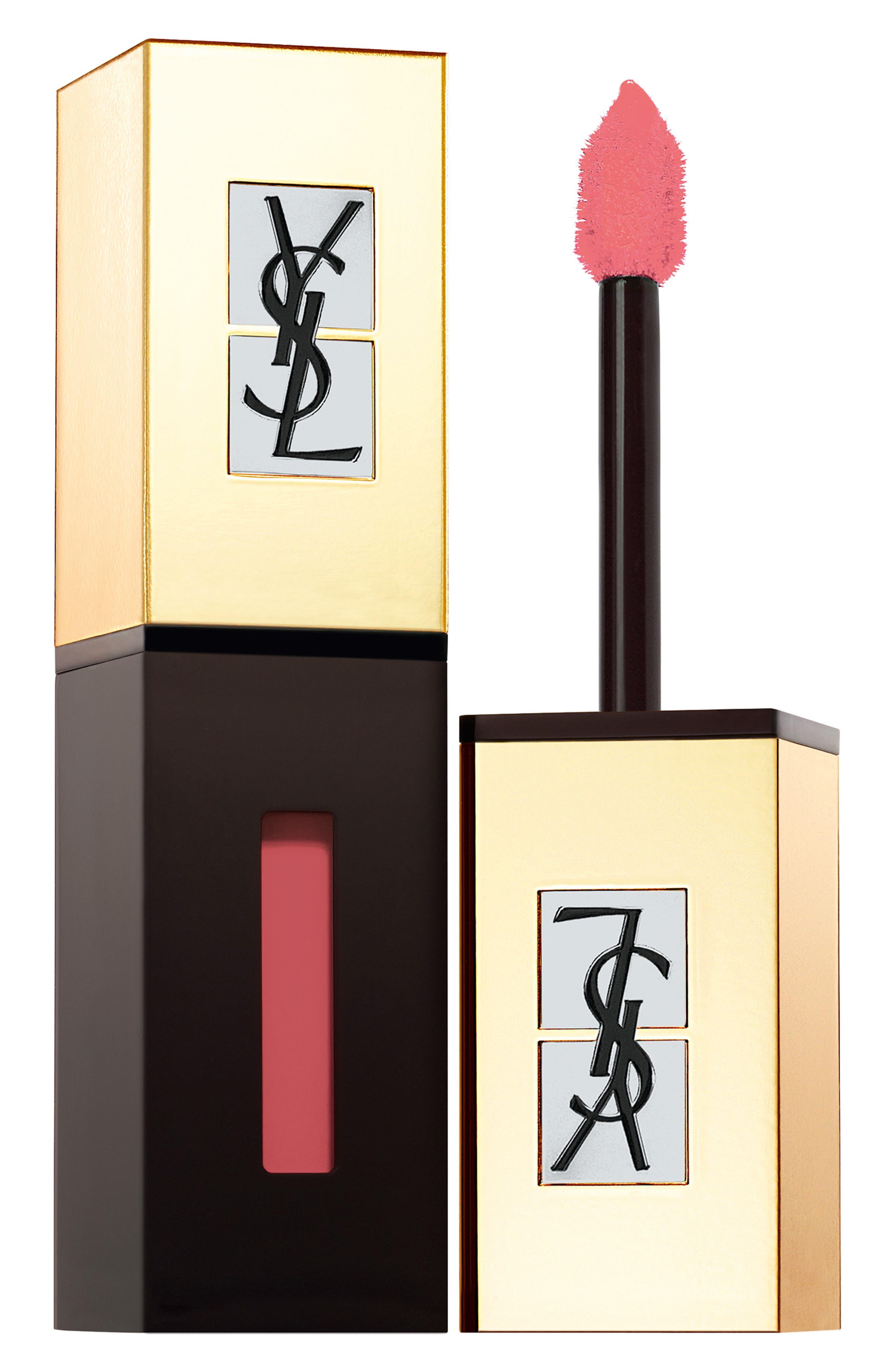 Yves Saint Laurent Pop Water Vernis A Levres Glossy Stain - 203 Eau De Corail