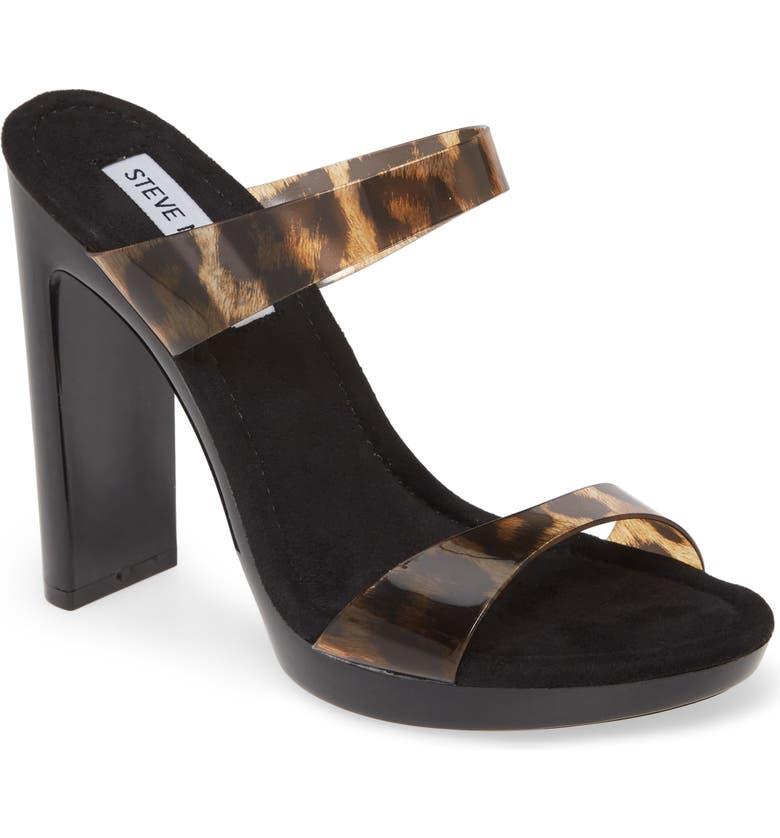 STEVE MADDEN Glassy Clear Platform Sandal, Main, color, 218